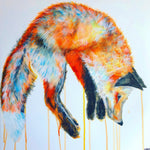 hunting jumping fox sophie long art contemporary drip