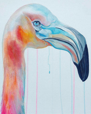 sophie long art flamingo raffle