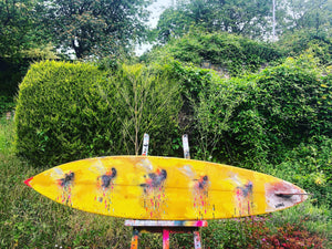 7ft TIKI SURF BOARD BEES