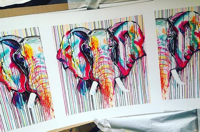 elephant ivory prints sophie long