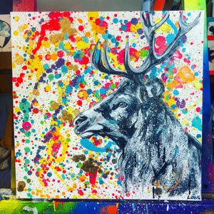 DAY56 #30minuteartchallenge STAG ON SPLAT