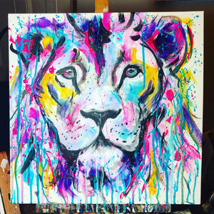 DAY20 #30minuteartchallenge RAINBOW LION