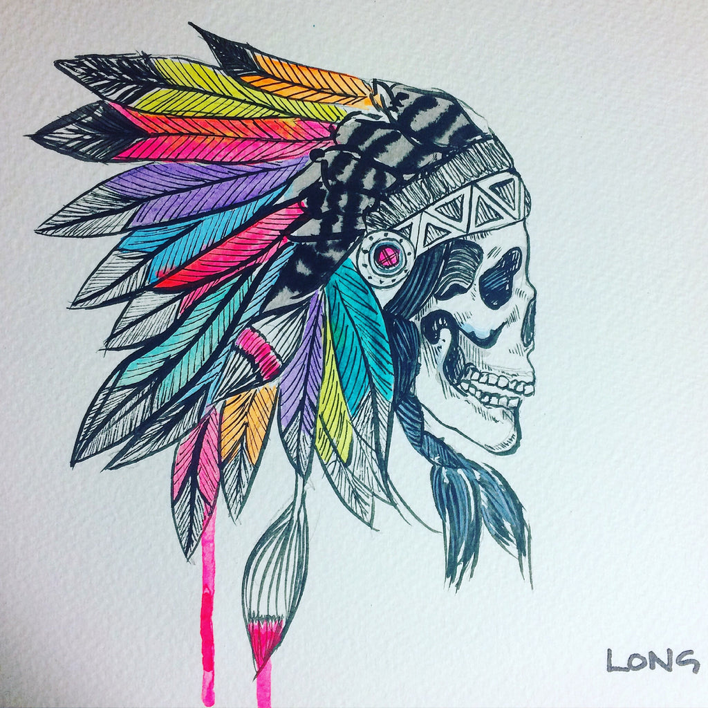 skull headdress sophie long art affordable art