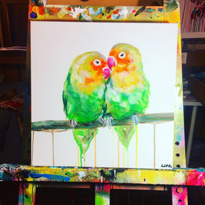 DAY7 #30minuteartchallenge LOVEBIRDS
