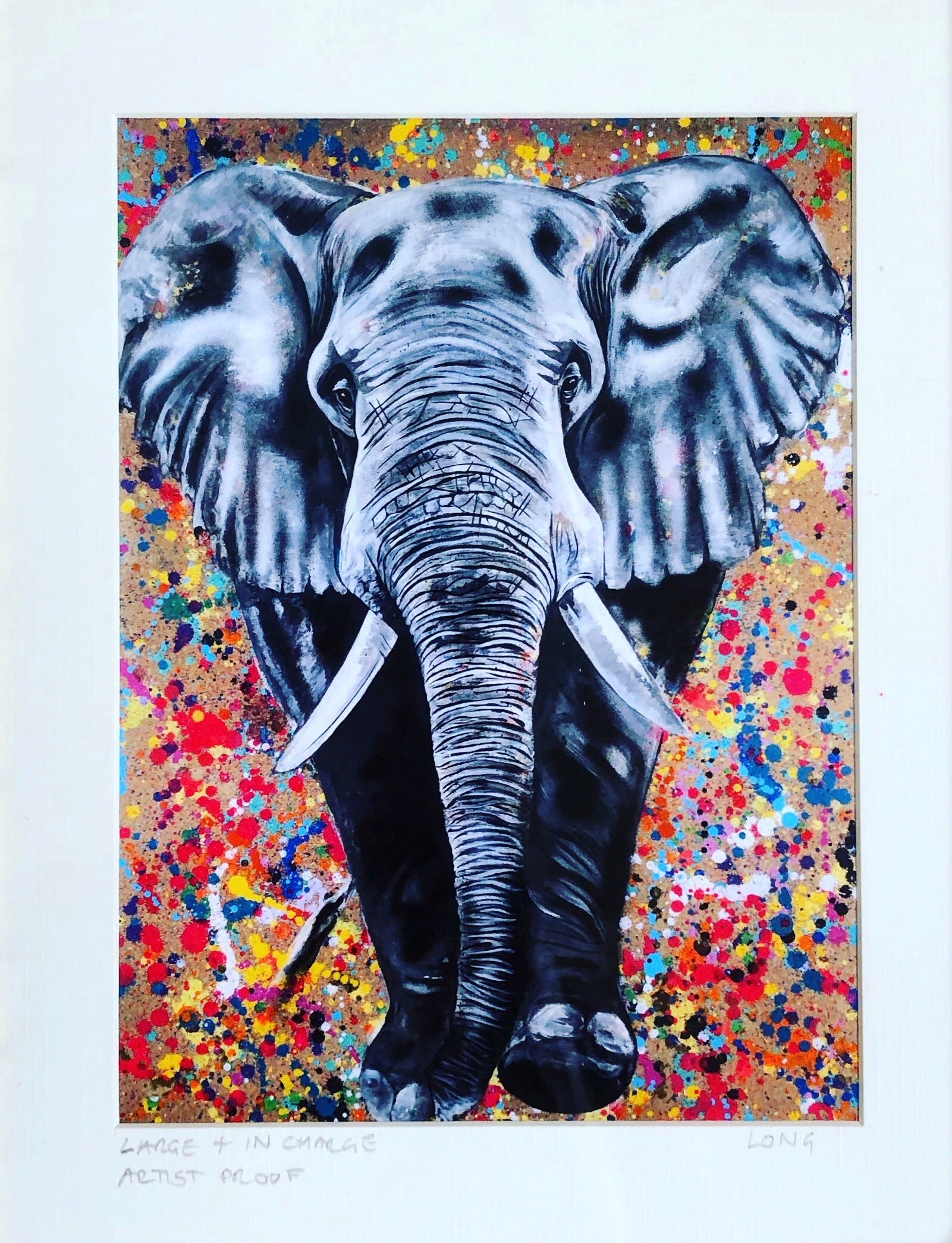 Limited Edition LARGE AND IN CHARGE Giclee Print GOLD FRAME
