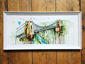 clifton suspension bridge limited edition print sophie long