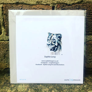 YOUNG LION GREETINGS CARD