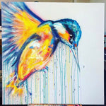 KINGFISHER 4x4ft on Dibond Board