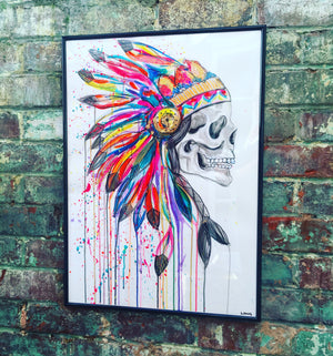 the headdress skull sophie long feathers death