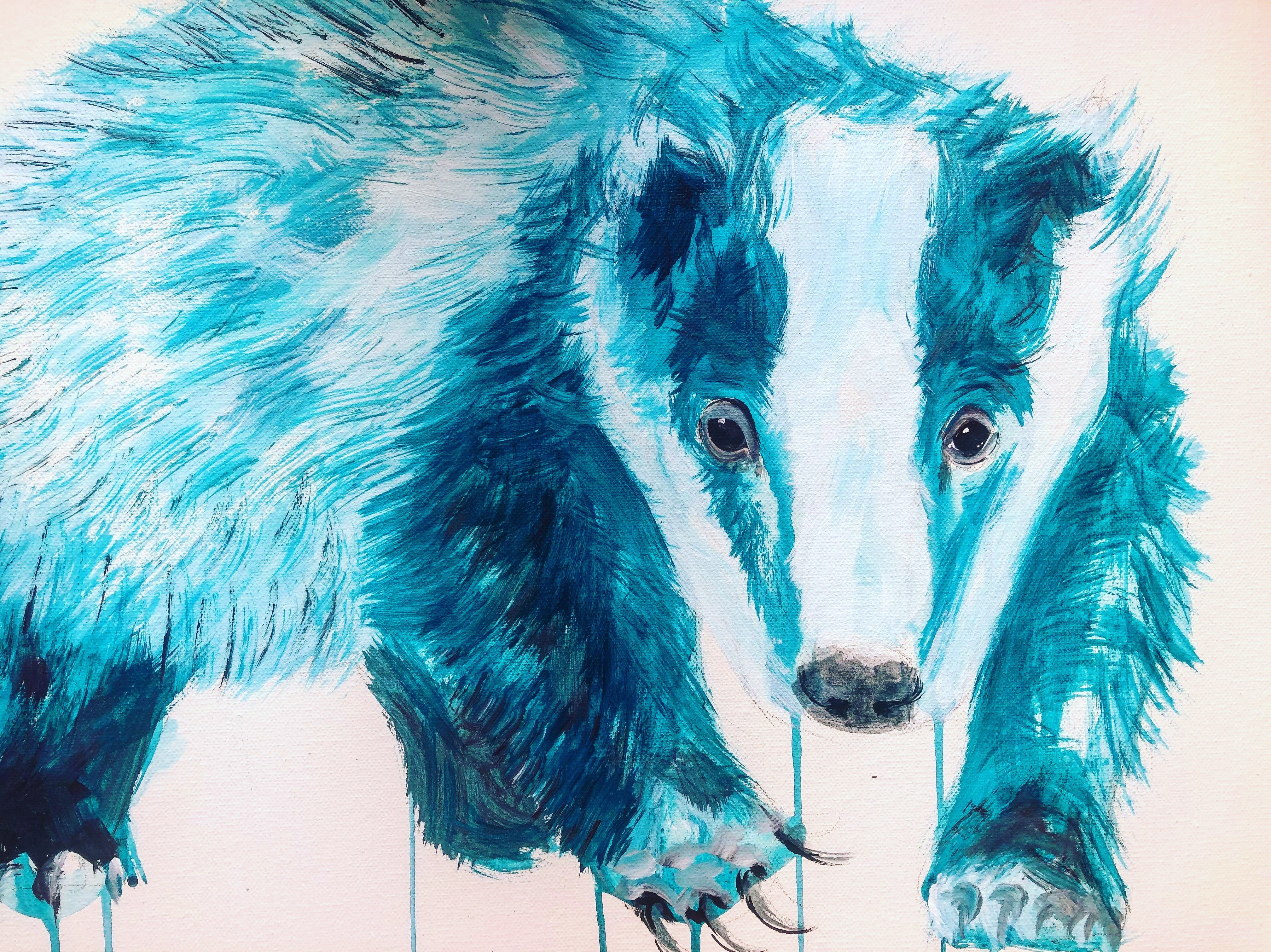 DAY75 #20minuteartchallenge BADGER