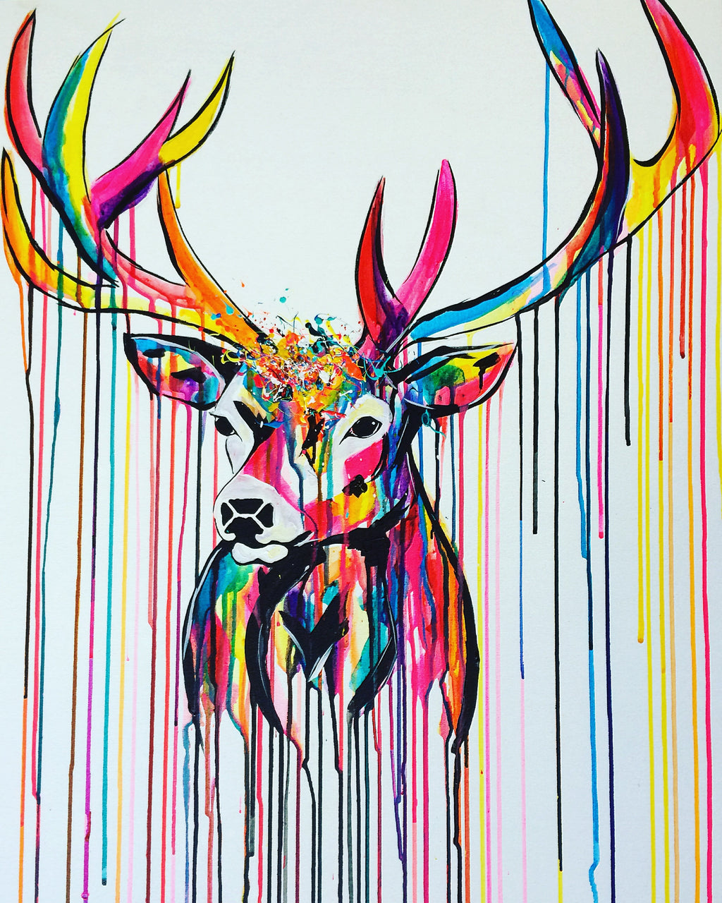Limited Edition Rainbow Stag Print