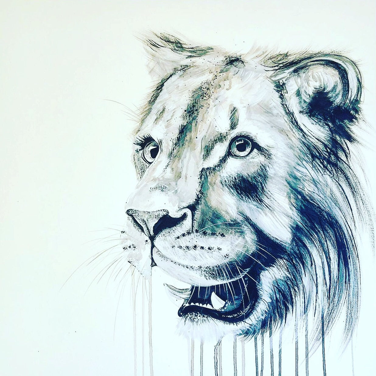 young lion sophie long art original