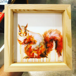 RED SQUIRREL ARTIST PROOF