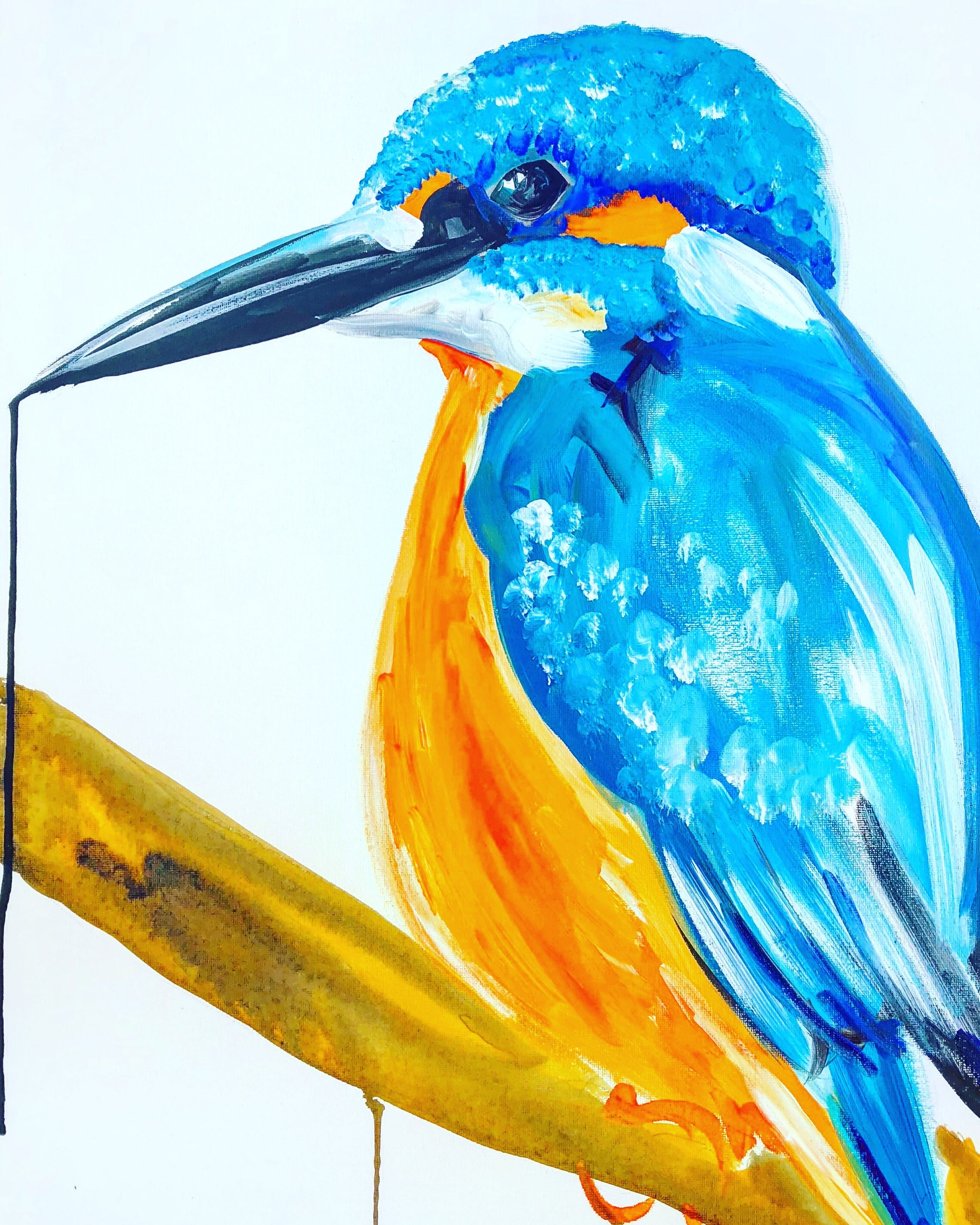 DAY17 #20minuteartchallenge KINGFISHER