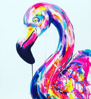 flamingo art challenge sophie long animal artist colour