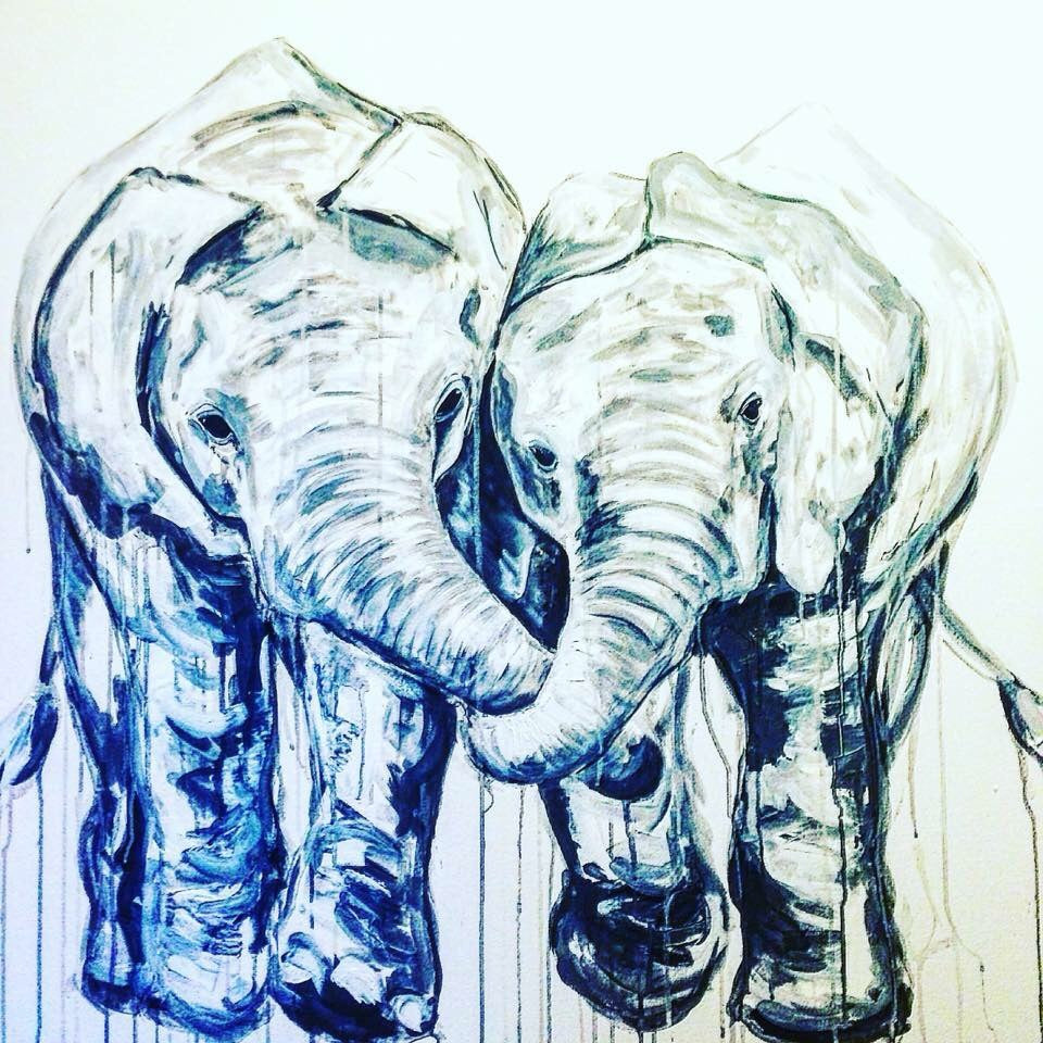 elephants art contemporary sophie long