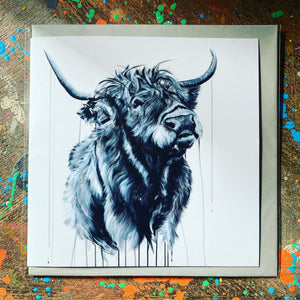 HIGHLAND HEFFER GREETINGS CARD