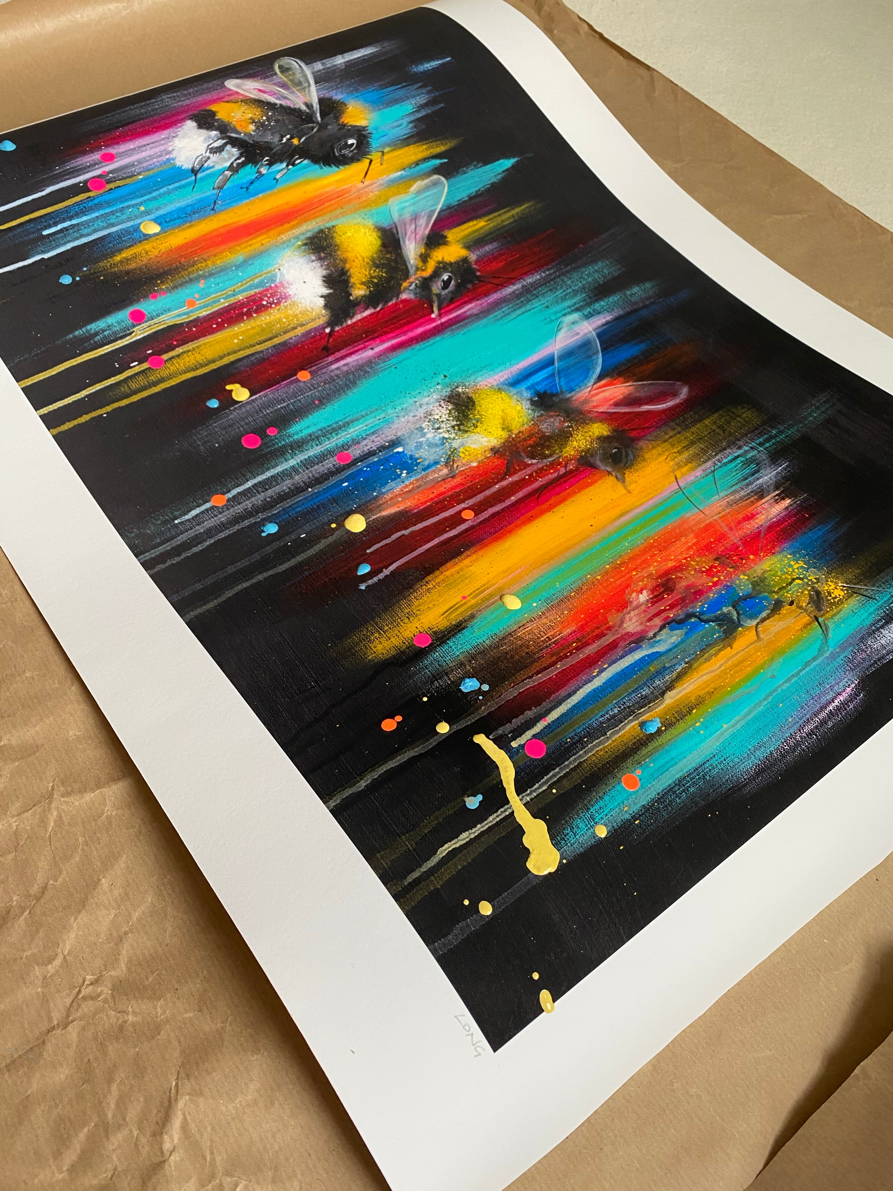 DISCOUNT Limited Edition DYING OUT IN A WORLD OF COLOUR Giclee Print