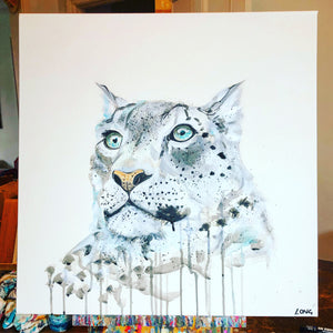 DAY14 #30minuteartchallenge SNOW LEOPARD