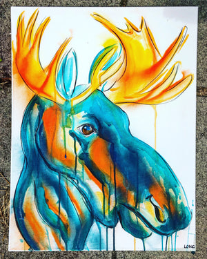 DAY39 #20minuteartchallenge ABSOLUTE MOOSE