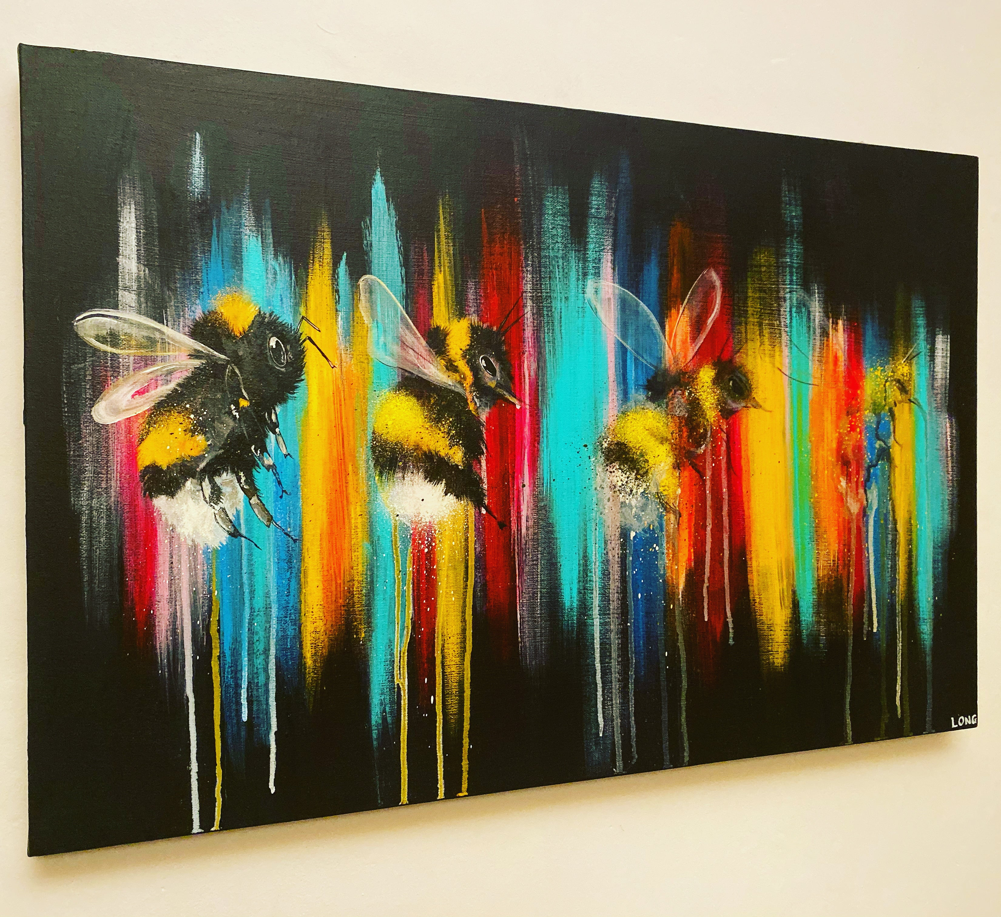 dying out in a world of colour sophie long art bees