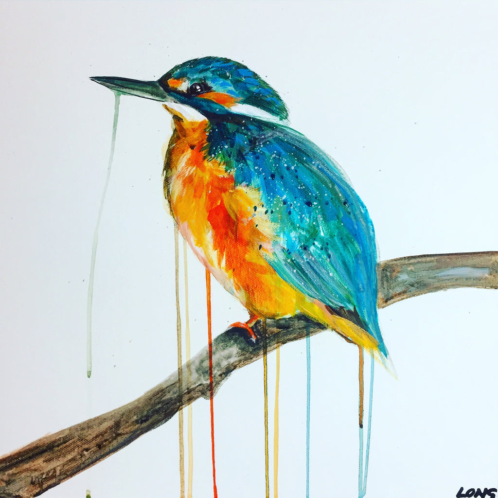 DAY4 #30minuteartchallenge KINGFISHER