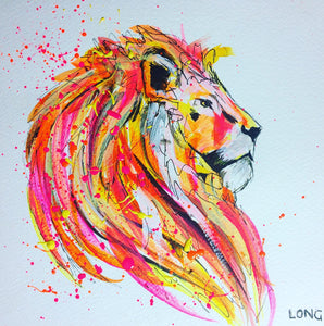 lion head mane affordable art sophie long