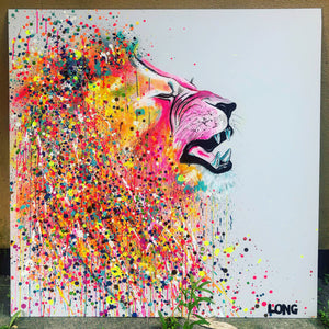 LION RAWR 4x4ft on Dibond Board