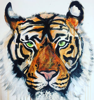 20 minute art challenge tiger sophie long