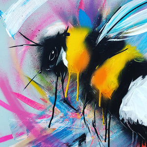 spray paint bumble bee sophie long art