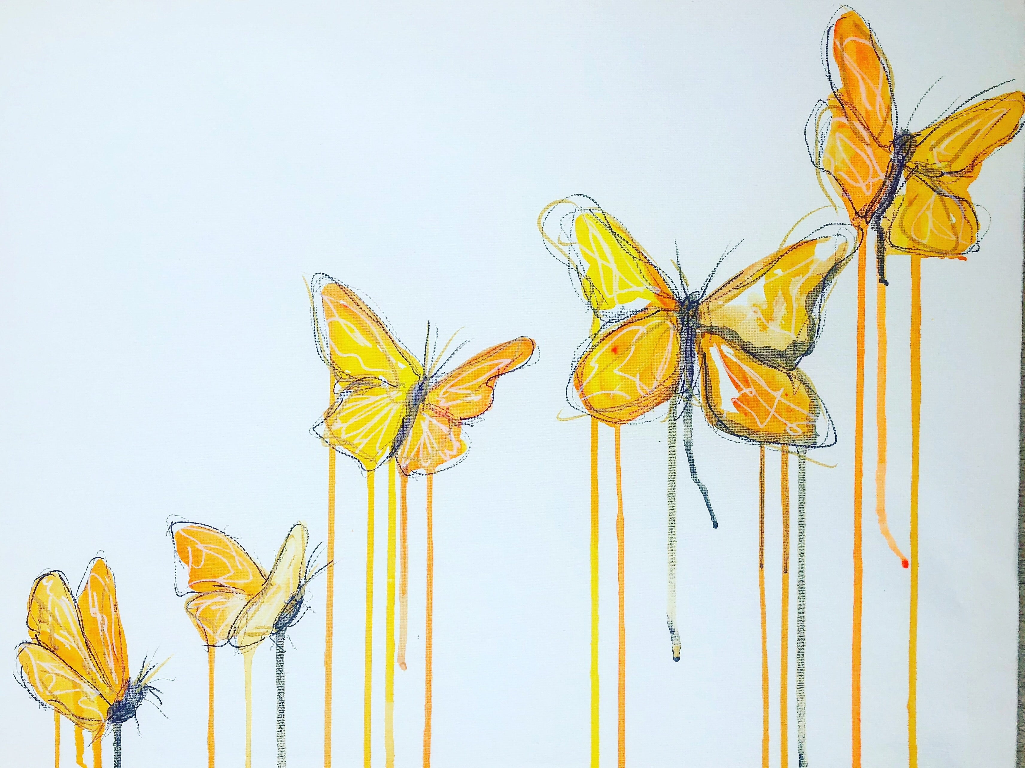 DAY22 #20minuteartchallenge ButterFLYING
