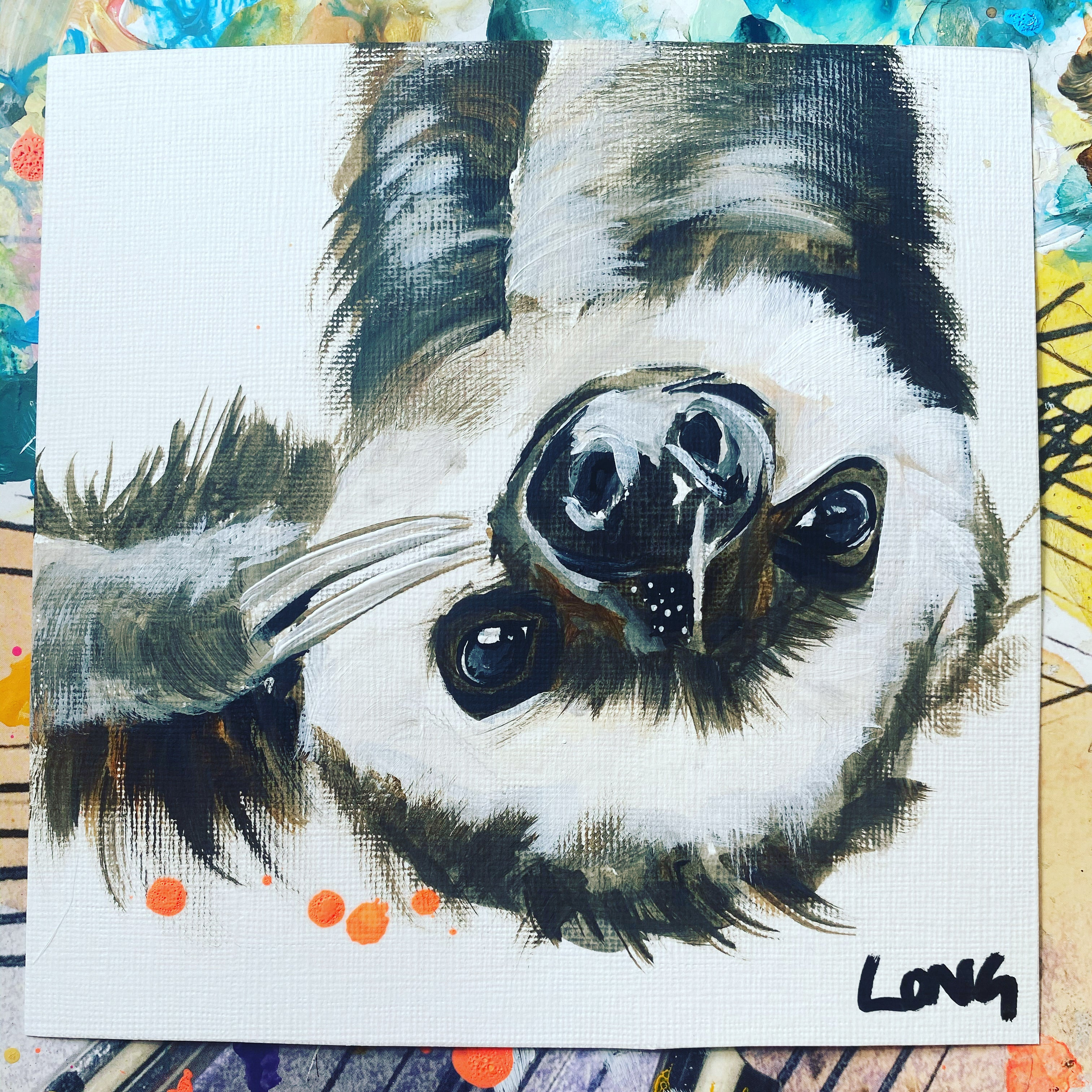 OWL AND SLOTH AFFORDABLE ART