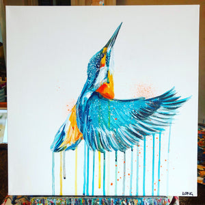 DAY44 #30minuteartchallenge KINGFISHER