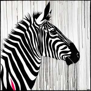 zebra striped horse sophie long