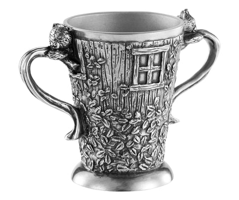 Royal Selangor Tree House Child's Mug in Pewter