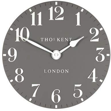 "Thomas Kent 12"" Arabic Dolphin Grey Wall Clock"