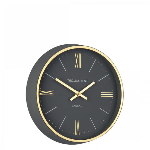 Thomas Kent 10'' Hampton Wall Clock Charcoal
