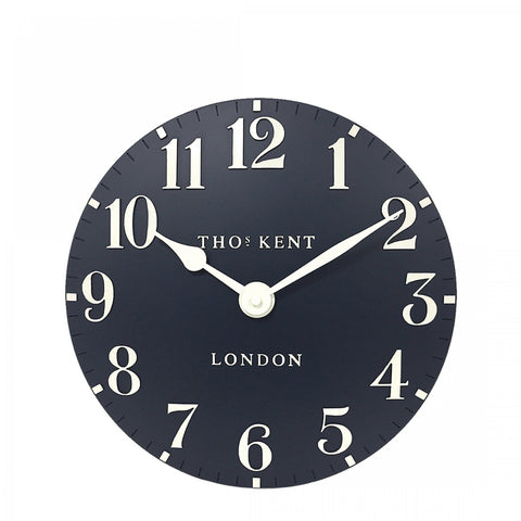 "Thomas Kent 12"" Arabic Ink Wall Clock"