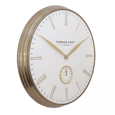 "Thomas Kent 28"" Greenwich Timekeeper Grand Clock Ivory"