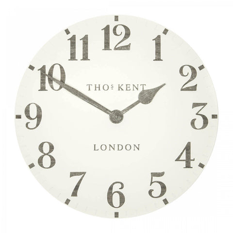 "Thomas Kent 20"" Arabic Wall Clock Limestone"