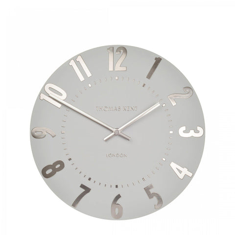 Thomas Kent London Mulberry Wall Clock in Silver Cloud 12""