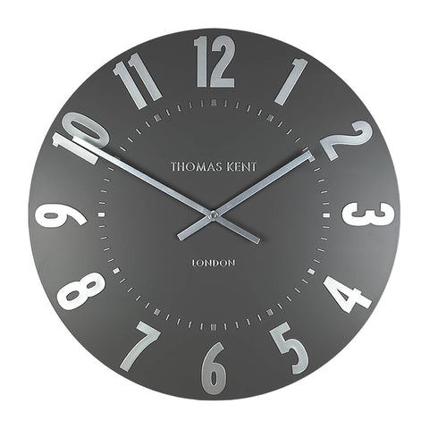 "Thomas Kent 20"" Mulberry Wall Clock Graphite Silver"