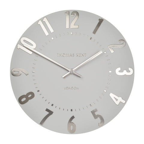 "Thomas Kent 20"" Mulberry Wall Clock Silver Cloud"