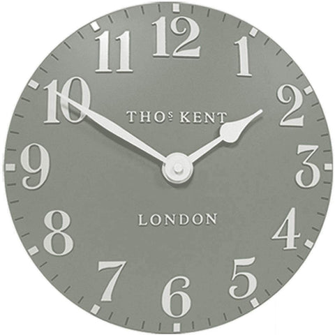 "Thomas Kent 12"" Arabic Seagrass Wall Clock"