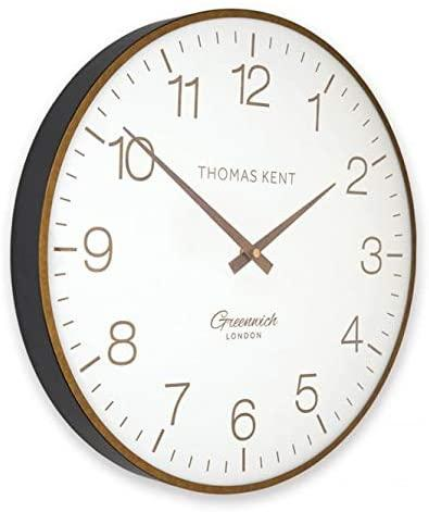 "Thomas Kent 21"" Greenwich Club Wall Clock Brass"