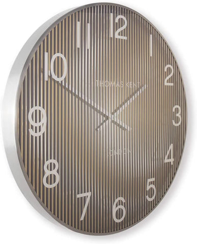 "Thomas Kent 21"" Linear Wall Clock Gold"