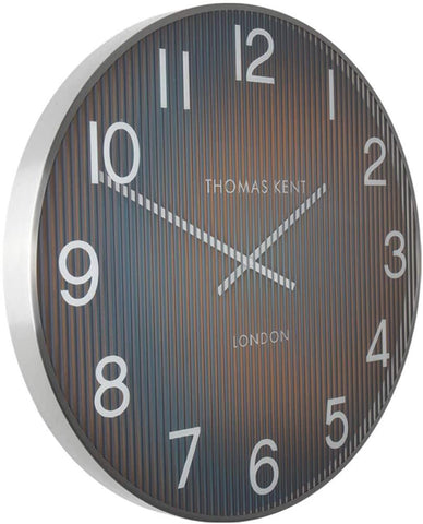 "Thomas Kent 30"" Linear Wall Clock Teal"