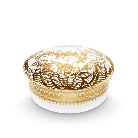 Bjørn Wiinblad Aida Gold Trinket Box 12 cm