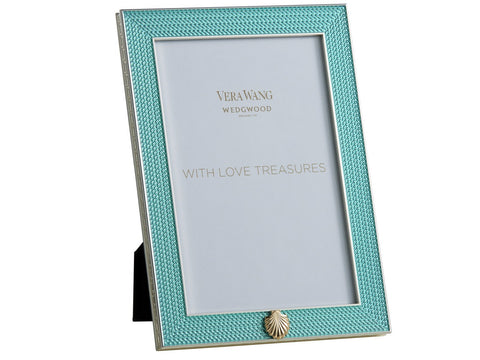 Vera Wang With Love Treasures Aquamarine Seashell Frame 4x6