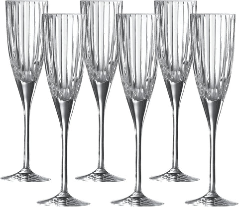 Royal Doulton Linear Champagne 24.5cm x Flutes - set of 6